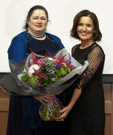 Samantha Holman and Grace Aungier at the Irish Magazine Awards, 2014